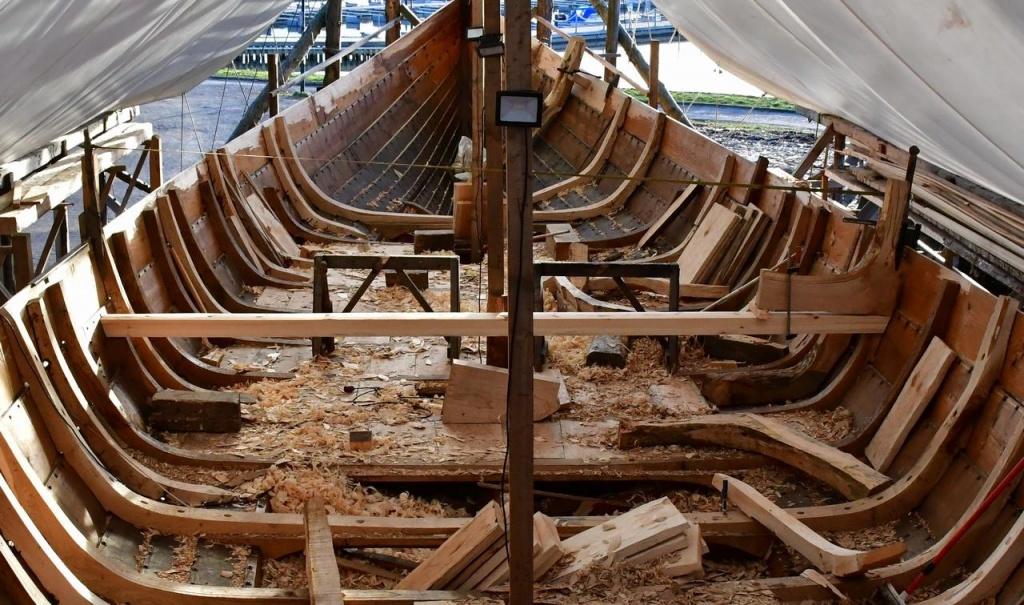 The Klastad ship in the building prosess