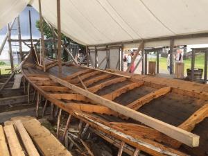 Klåstadskipet under bygging. Foto: Ole Harald Flåten