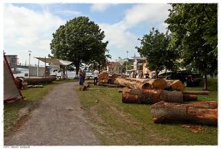Slik ser byggeplassen til det nye Osebergskipet ut. Foto: Jørgen Kirsebom