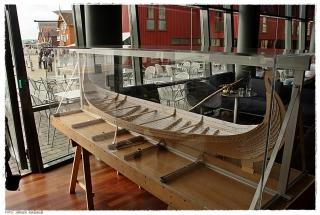 Modellen av det nye Osebergskipet. Foto: Jørgen Kirsebom