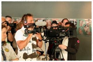 Media var på plass under åpningsseremonien. Foto: Jørgen Kirsebom