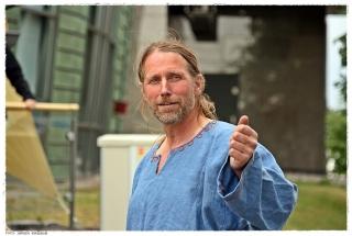 Byggeleder Geir Røvik ytret ønske om at flest mulig skal få glede av skipet, og oppfordret til frivillig innsats. Foto: Jørgen Kirsebom