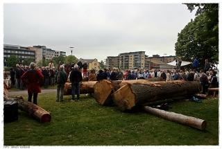 Åpningsseremonien skapte stor interesse. Foto: Jørgen Kirsebom