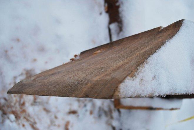 Fig. 20: Det S-formete skaret. Nederst sees hvordan det er vridd. (Foto: Thomas Finderup).