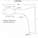 Fig. 27: En av flere oppmålingstegninger av øksen C25574 datert til ca. år 840 e. Kr. (Tegning: Thomas Finderup)