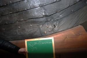 Fig 3: Skaret mellom kjøl og forstevn på styrbord side. (Foto: Thomas Finderup)