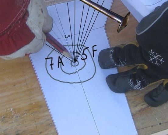Fig. 5: Illustrasjonen viser hvordan vi ønsker å plassere kjølen i stammen. (Foto: Thomas Finderup)