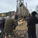 Heldig tilfeldighet: Professor emeritus Arne Emil Christensen kom tilfeldigvis til Tønsberg og ble umiddelbart intervjuet om utgravingen av Klåstadskipet. (Foto: Ole Harald Flåten)