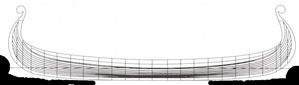 Byggetegning av Saga Oseberg